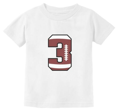 Gift For 3 Year Old 3rd Birthday Football Toddler Kids T-Shirt Bday