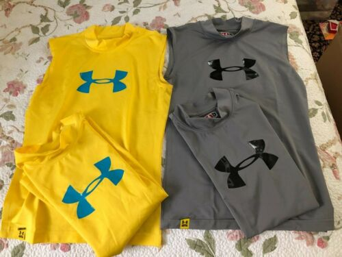 MEN'S UNDER ARMOUR SLEEVELESS SHIRTS SIZE SMALL
