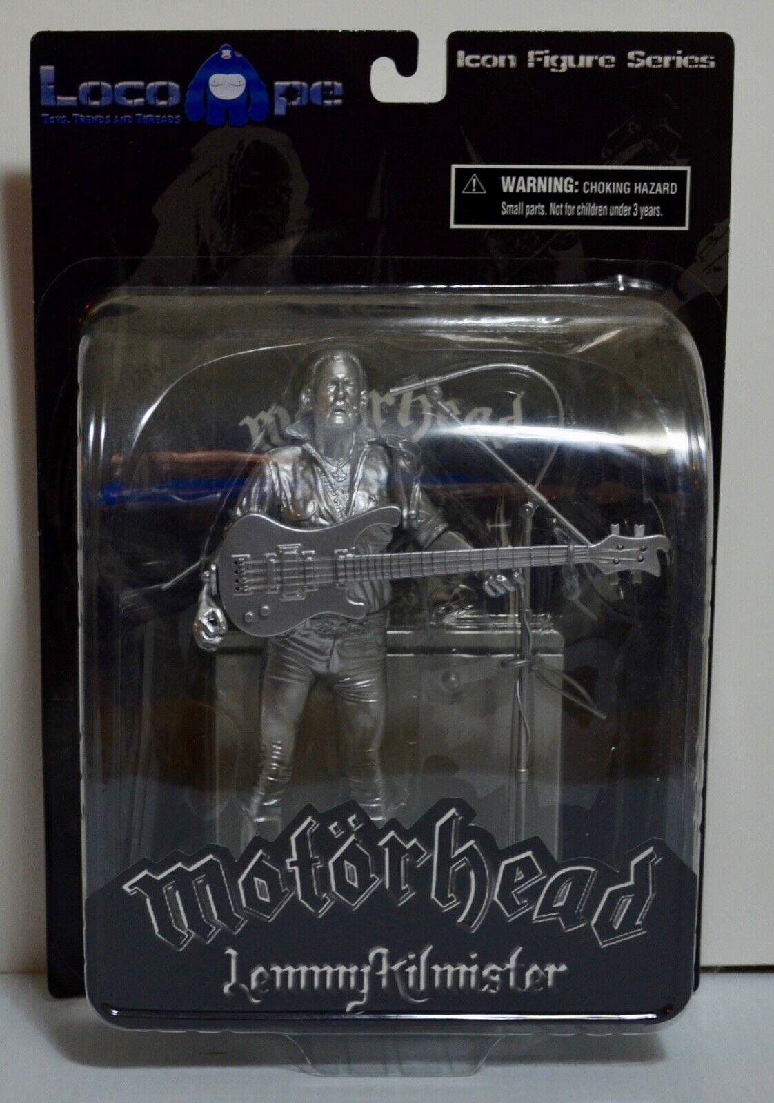 Motorhead Lemmy Kilmister Locoape Plata Variante Figura de edición limitada de 300