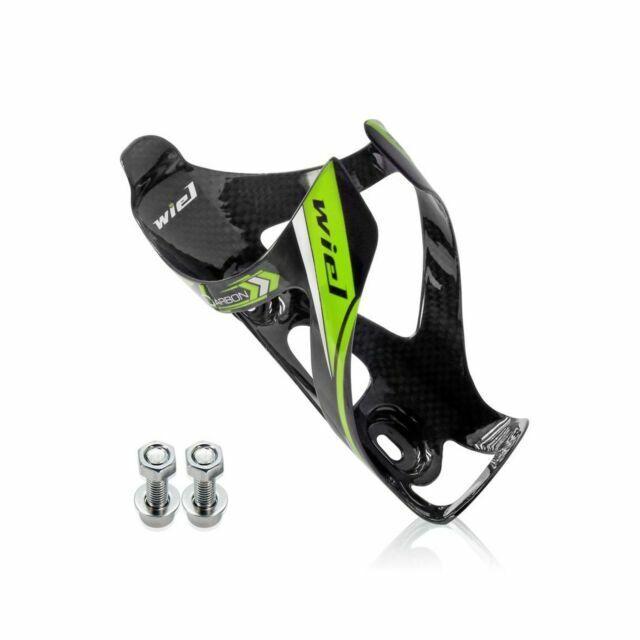 Wiel Full Carbon Fiber Bicycle Bike Light Drink Water Bottle Cage Holder Green