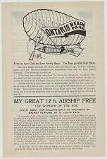 xRARE 1900 Early Airship Advertising Flyer Nichols Ontario Beach Chili NY