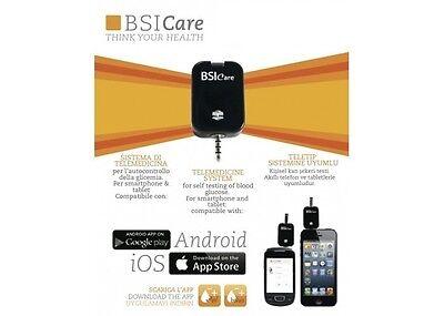 NUOVO BSICARE GLUCOMETRO PER SMARTPHONE ANDROID E APPLE  BSI CARE + 10 STRISCE