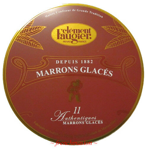 Clement Faugier French MARRONS GLACES Candied Chestnuts RED Gift Tin BEST PRICE