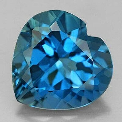 Masterpiece Collection: Heart Genuine (Natural) London Blue Topaz (5x5-10x10mm)