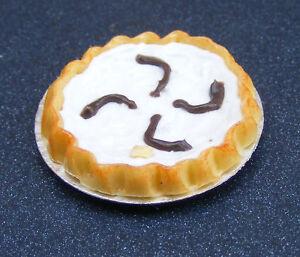1-12-Coconut-Cream-Tart-Dolls-House-Miniature-Kitchen-Dessert-Accessory-D21