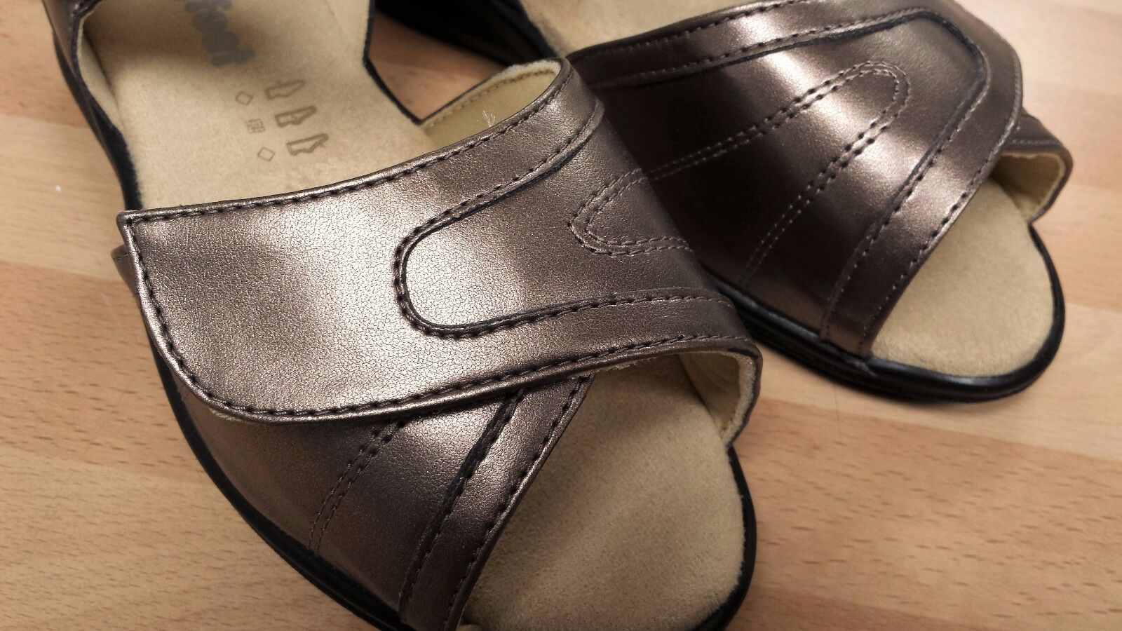 femmes bronze cosyfeet sandales chaussures extra spacieux