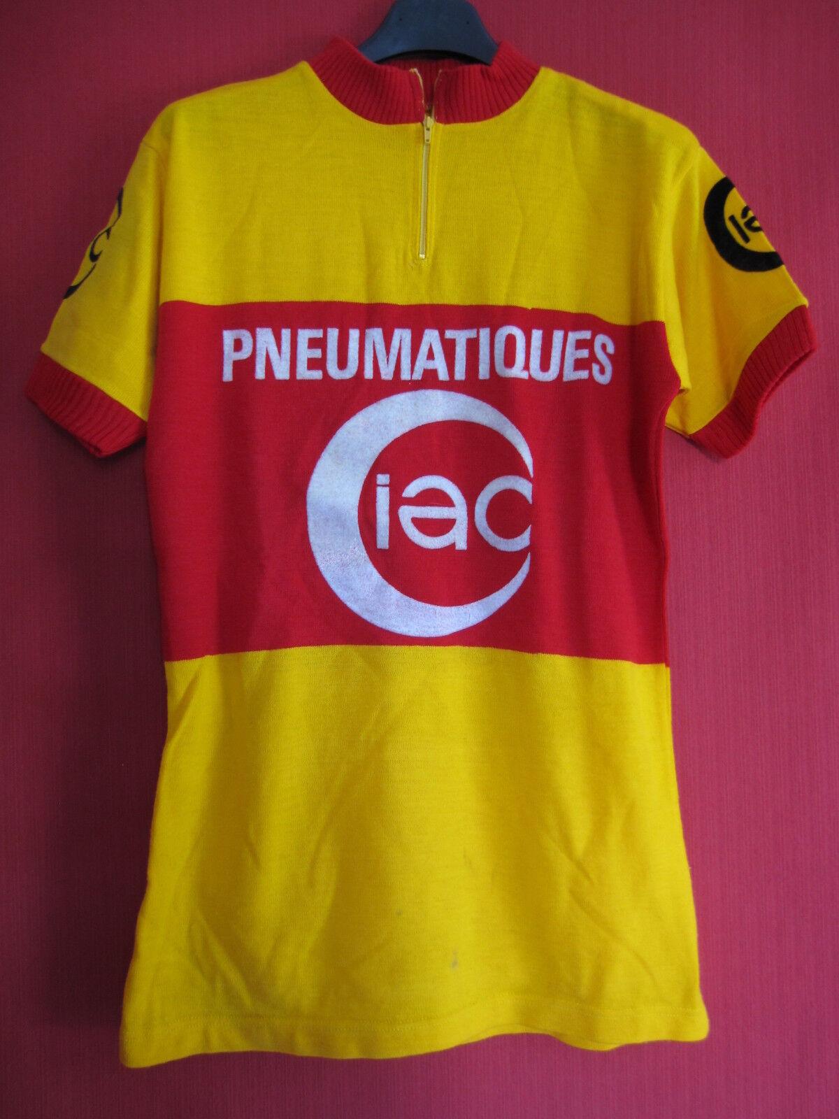 Maillot cycliste Vintage Ciac Pneumatiques Acrylique 70'S Jersey - 3   M