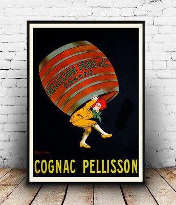 Cognac Pellison Vintage Alcoholic drink advertising poster reproduction.