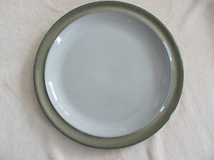 Denby-Langley-Fjord-Green-Band-11-3-4-034-Round-Platter-Chop-Plate-s-2-Available