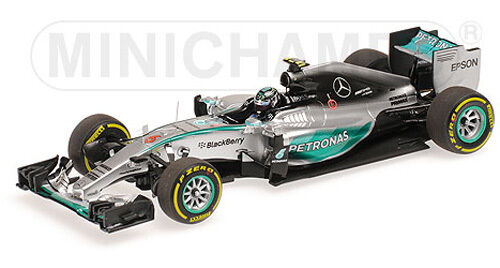 Minichamps 1 43 417 150106 Mercedes F.1 W06 Winner Monaco GP 2015 Rosberg NEW