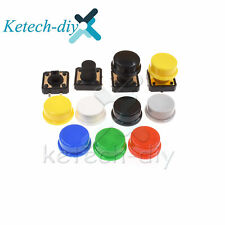 Momentary Tactile Push Button Touch Switch 4p Withcap 12x12x731012mm New L2kd
