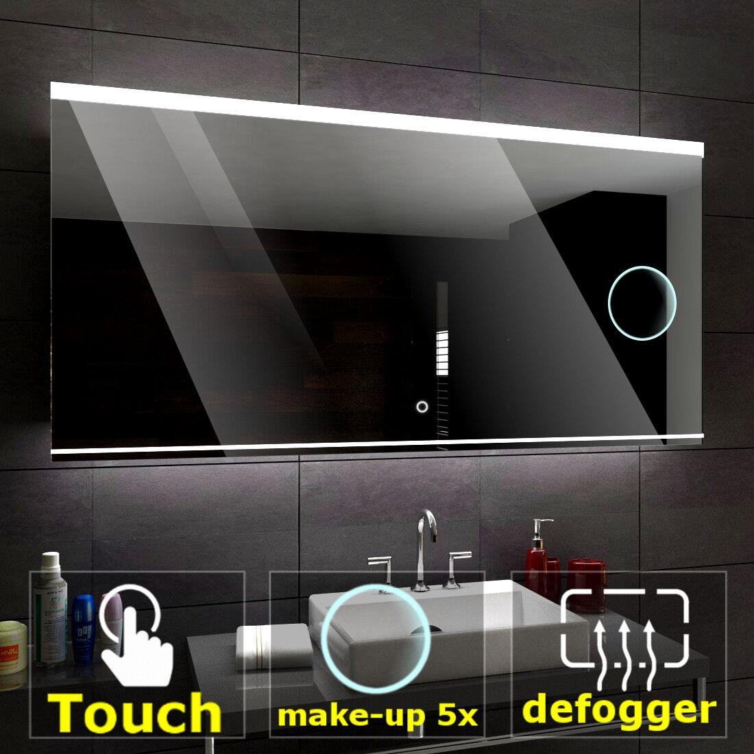 SEOUL éclairé del Miroir salle de bain LED interrupteurs maquillage anti buée