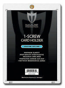 25-Max-Pro-Thick-120pt-Pro-1-Screw-Plastic-Card-Holders-Ultra-Clear-New