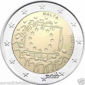 Piece-commemorative-2-euros-MALTE-2015-034-30eme-anniv-du-drapeau-Europeen-034-UNC