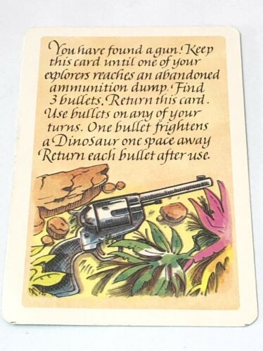 You Have Found A Gun Adv Card Lost Valley Of The Dinosaurs Replacement Part