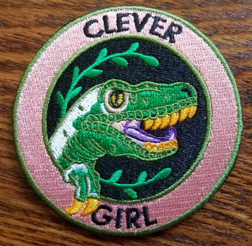 Jurassic Park Clever Girl Dinosaur Patch 3 inches tall