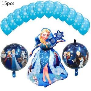15pcs-Princesse-feuille-helium-Ballons-de-flocon-de-neige-Fete-D-039-Anniversaire-Fournitures