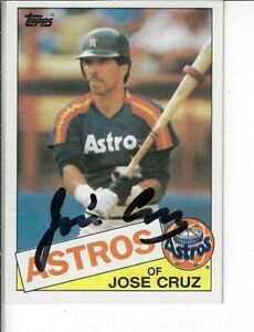 JOSE-CRUZ-1985-TOPPS-AUTOGRAPHED-BASEBALL-CARD-95-HOUSTON-ASTROS