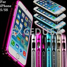 Luxury Thin Aluminum Alloy Metal Bumper Frame Case Cover for Apple iPhone 5/5S