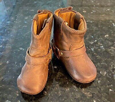 Small Frye Infant Leather Harness Boots