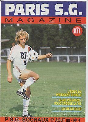 2019 Neuestes Design Orig.prg 1.liga Frankreich / Ligue 1 1988/89 Paris St.germain - Fc Sochaux !!