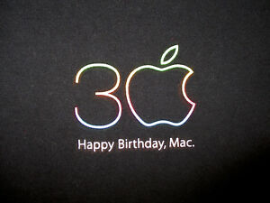 Apple mac macintosh 30th anniversary logo t shirt vtg 2014 computer