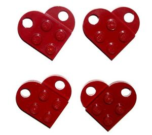 LEGO-4-Dark-Red-HEART-CHARM-LOVE-PENDANTS-Valentines-Gift-NEW
