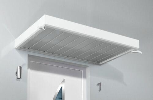 Weiß Aluminiumvordach Gutta Vordach 200x90x14 cm Rechteckvordach NM
