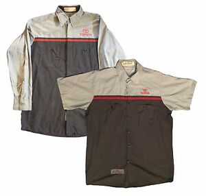 Red kap toyota men shirt technician short and long sleeve for Red kap mechanic shirts