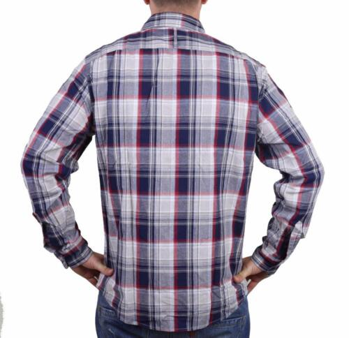 NEW MEN/'S DOCKERS CLASSIC FIT CASUAL WOVEN FLANNEL SHIRT PEACOAT 8BW27LK