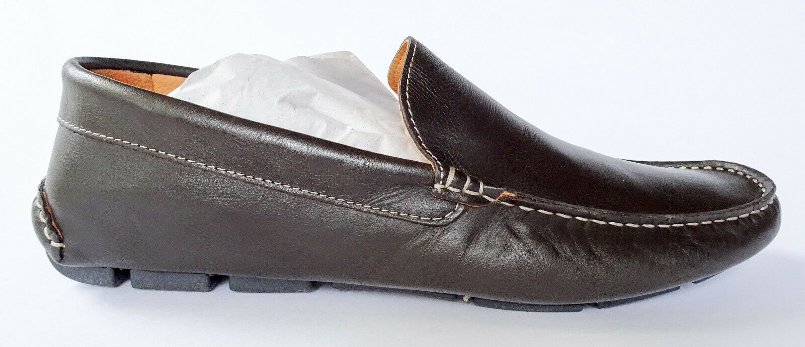 🔥 Barneys New York Brown Leather Venetian Drivers Loafers 9 NIB FAST SHIPPING!