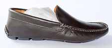 Barneys New York Dark Brown Nappa Leather Venetian Drivers Loafers US 9 NIB $280