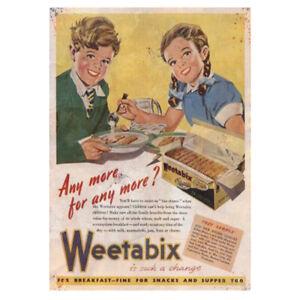 Diplomatique Weetabix Cereal Advertising Sign Kitchen Workshop Vintage Garage Shed Metal Une Gamme ComplèTe De SpéCifications