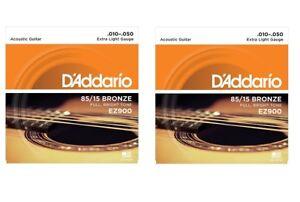 OFFERTA-2-SET-MUTA-CORDE-D-039-ADDARIO-EZ900-Bronze-010-050-CHITARRA-ACUSTICA-FOLK