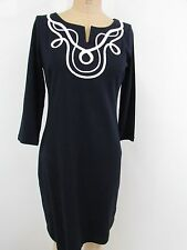 NWT!!  Talbots Blue 100% Cotton Embroidered Dress-Size PS