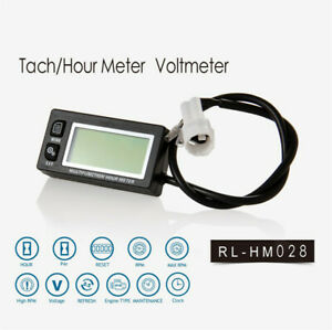Digital-Backlight-Tach-Hour-Meter-Voltmeter-for-2-4-Stroke-Gas-Engine-Motocross