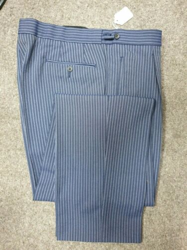 D2 para hombre Azul Marino A Rayas Boda Noche Vestido de la mañana Masónico Suit Pantalones