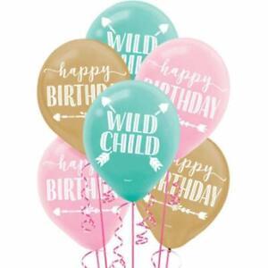 BOHO-BIRTHDAY-BALLOONS-Party-Wall-Decorations-Wild-Child-Room-Decor-Flower-Arrow