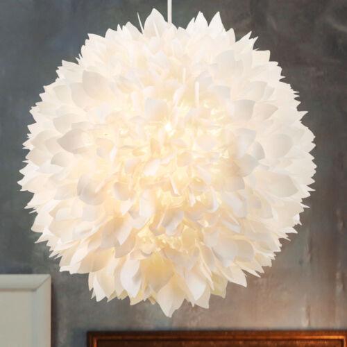 Luxus Wohn Ess Zimmer Kugel Pendel Hänge Lampe Blüten Flora Design Leuchte weiß