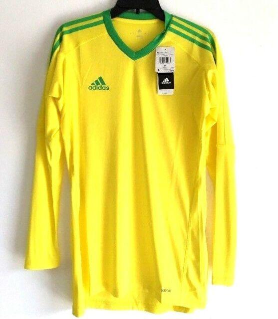 89d88393a56 Adidas Men REVIGO 17 GK Goalkeeper Shirt Yellow Soccer Jersey AZ5396 Size  Small