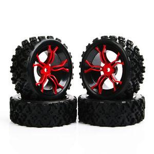 4Pcs Set 1:10 Wheel Rim /&Rubber Tires RC Rally Racing Off Road For HPI HSP Car