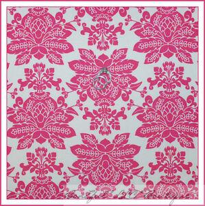 BonEful-Fabric-FQ-Cotton-Quilt-VTG-Cream-Pink-Rose-Flower-Damask-Santorini-Toile