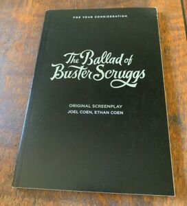 Details about The Ballad Of Buster Scruggs FYC Netflix Screenplay Script  Book Joel Ethan Coen