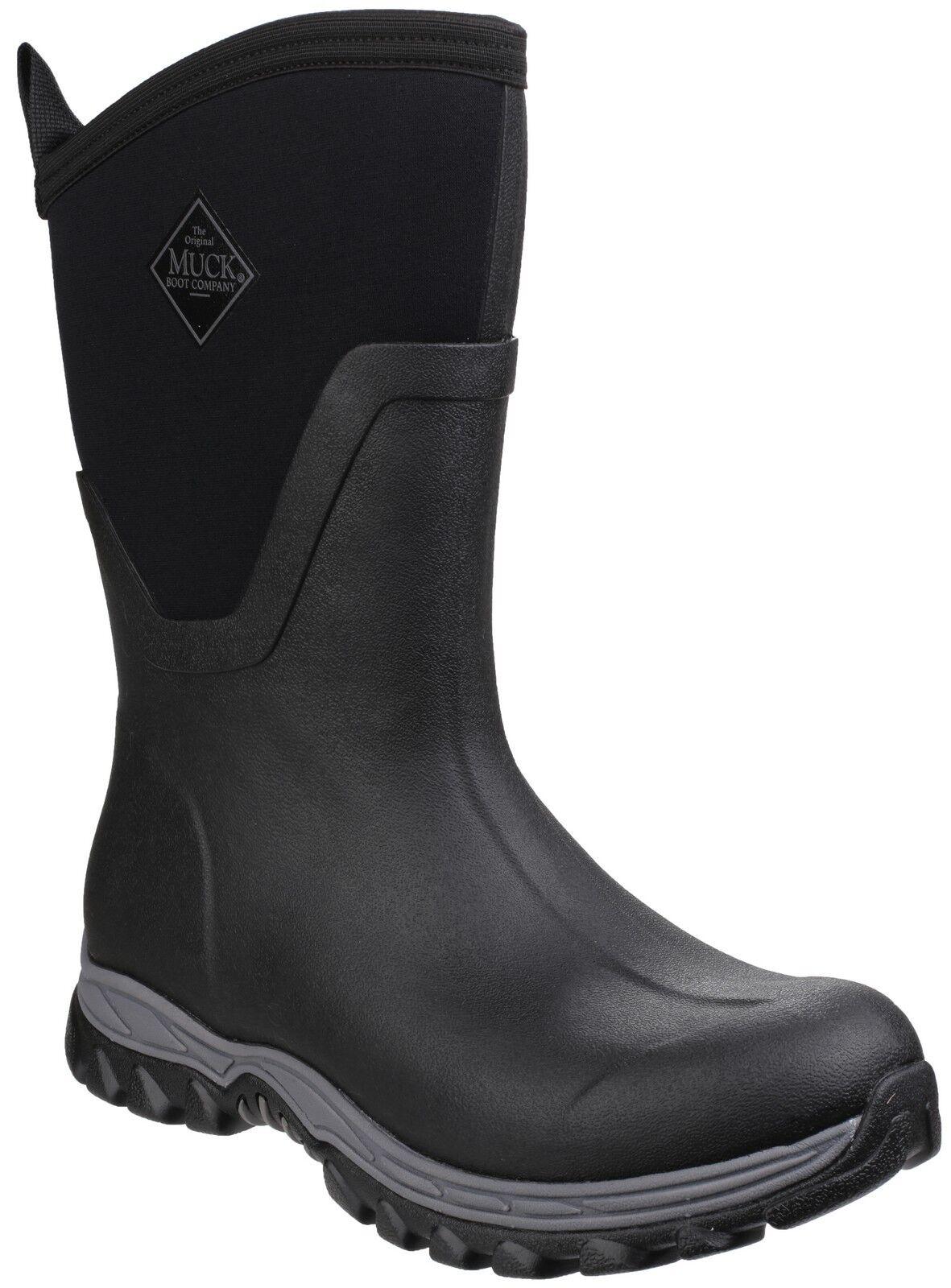 Muck Boots IMPERMEABILE Arctic Sport metà Wellington IMPERMEABILE Boots lavoretto nere da donna 24cf69