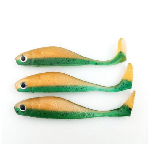 8PCS Soft Fishing Lure Silicone Jigs Swimbaits 3.35in//5g Fishing Shad Worm Baits