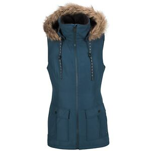 2018-NWT-WOMENS-VOLCOM-LONGHORN-INSULATED-SNOWBOARD-VEST-S-vintage-navy
