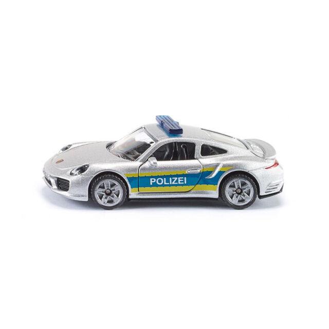 Siku Super 1528 Porsche 911 Turbo S autopistas policía weißalu alta azul barra de luz