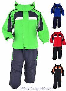 Skianzug-Kinder-Maedchen-Jungen-Schneeanzug-Skijacke-Skihose-Winteranzug-98-164