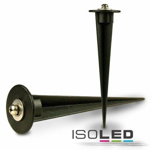 Erdspieß schwarz Kunststoff für LED-Strahler und Fluter Flutlichstrahler