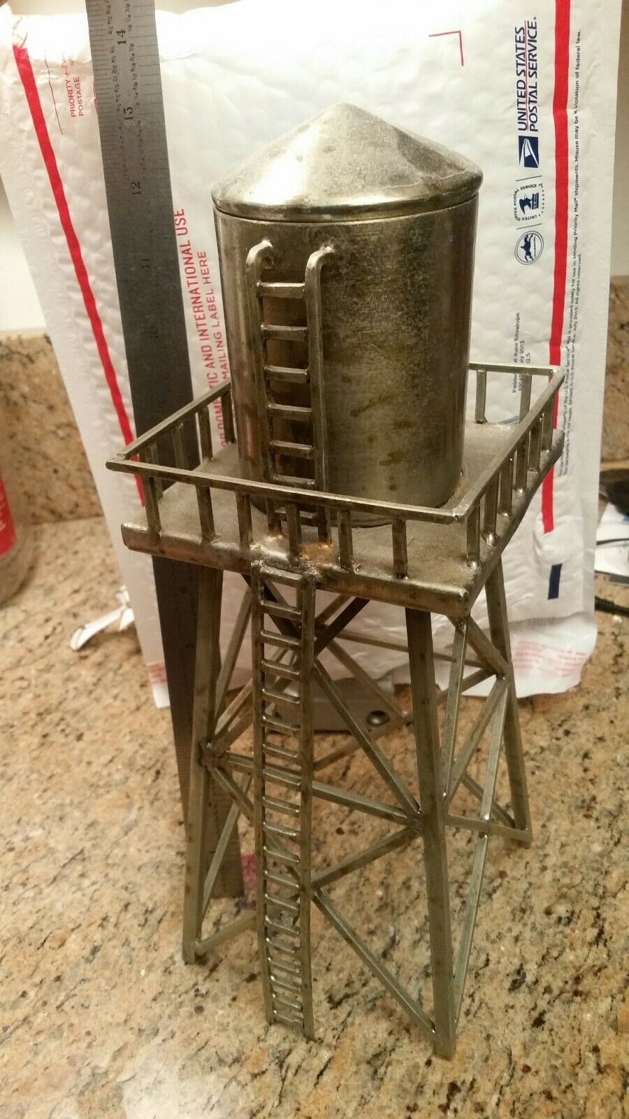 All Metal Construction Made In usa Stadt Water Tower handmade